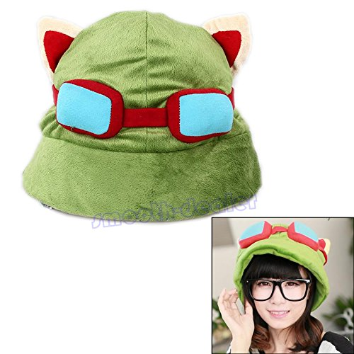 Freshsell Unisex Cosplay Green League of Legends LOL Teemo Game Video Merchandise - League Of Legends Cosplay Kostüm