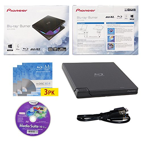 pioneer-bdr-xd05-6x-usb-30-portable-slim-bd-dvd-cd-burner-avec-3pk-gratuit-mdisc-bd-cyberlink-media-
