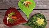 Drei gefilzte Blätter Filzblätter bunt
