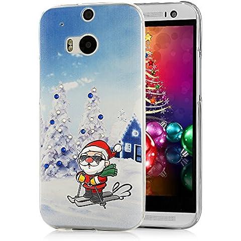 HTC One M8 Cover Custodia Cristallo -