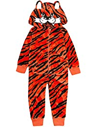 Onezee Boys Novelty Tiger Fleece Fancy Dress Fleece Jumpsuit All In One Costume