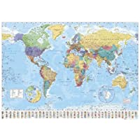 1art1® Empire 215833 World Map Flags 91 cm x 61 cm