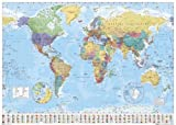 Empire 215833 Mappa politica del mondo in lingua inglese, 91 x 61 cm