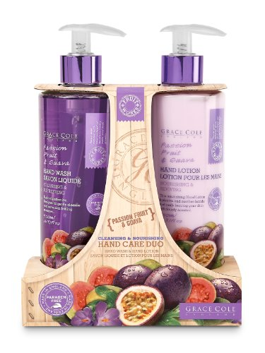 Grace Cole Fruit Works Passion Fruit andguava Nourishing Hand Care Duo Hand Wash Duo
