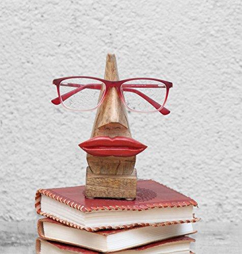 """Schrullige handgefertigte """"Nase Shaped"""" Brillenhalter Palisander Brillen Sonnenbrillen Halter Stand fur zu Hause und Buro Dekor (Nasenform braun1)"""
