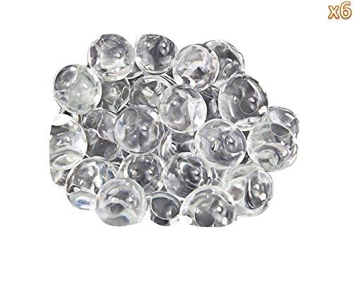 niceeshop(TM) Perlas de Gel de la Jalea Bolas de Agua de Cristal para Rellenos Florero Central de la Boda (Color Transparente, 6 Bolsas)