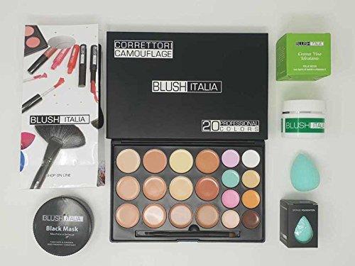 Blush Italie Kit Make Up Cuir parfaite crème visage correcteurs Black Mask Beauty Blender