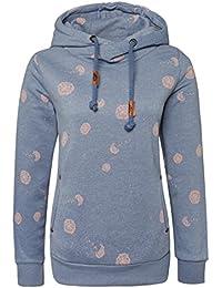 Sublevel Damen Sweathoodie - Pusteblume   Allover Print Kapuzenpullover   Basic Hoodie aus hochwertiger Baumwolle mit Aufdruck