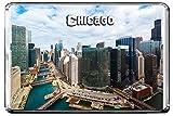 E176 CHICAGO KÜHLSCHRANKMAGNET USA TRAVEL PHOTO REFRIGERATOR MAGNET