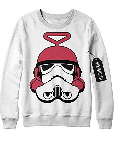 Sweatshirt Teletubbie-Trooper Mashup C112236 Weiß (Laa Kostüme Teletubbie Laa)