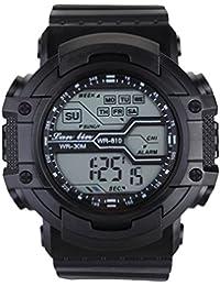 YAZILIND unisexe Sports Watch multifonction Led lumière numérique étanche montre-bracelet (noir)