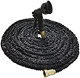 Arc Premier 100Ft Expandable Garden Hose With 8 Nozzle Spray Functions | Solid Brass Connectors, Strong Latex Inner Tube, Flexible & Kink Free Hose | For Watering Plants, Lawn, Cleaning, Outdoors & More