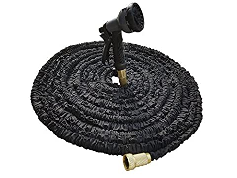 Arc Premier 100Ft Expandable Garden Hose With 8 Nozzle Spray Functions | Solid Brass Connectors, Strong Latex Inner Tube, Flexible & Kink Free Hose | For Watering Plants, Lawn, Cleaning, Outdoors &