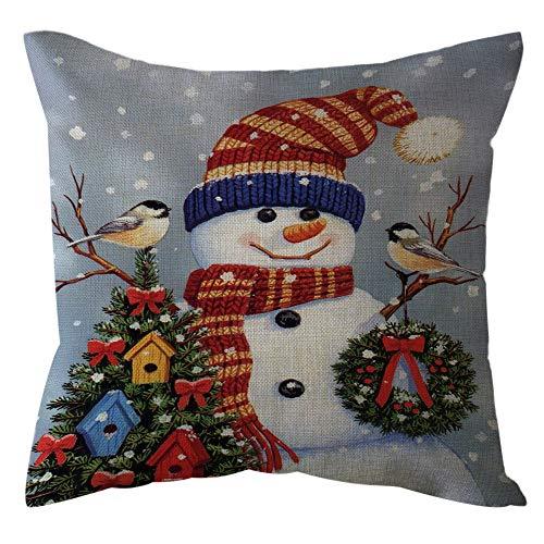GNYD Kissen Mode Bequem Elegante Reisekissen Weihnachtshauptdekor BüRo Sofakissen Quadrat Wurfs Kissen Festlicher Kissenbezug