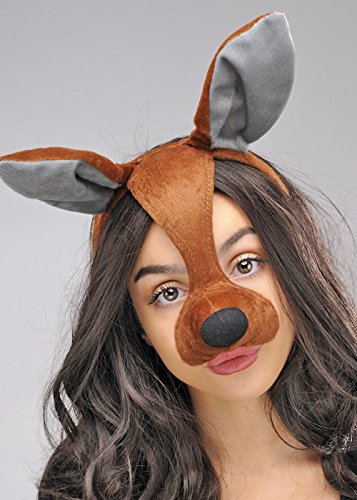 Känguru Ohren Stirnband - Struts Fancy Dress Känguru-Maske auf
