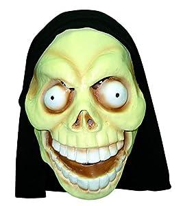 Ciao 30389-Máscara monstruo stralunato de látex con capucha, modelos surtidos