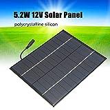 SODIAL Mini pannello solare 12V 5W Pannello solare policristallino Sistema epossidico solare a silicio Caricabatterie + uscita CC