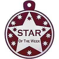 Gran estrella de la semana medalla tamaño grande elección de colores disponibles, rojo