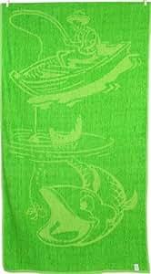Excellente qualité - 100%  coton-Multi-usage pour Sports de pique-nique de plage serviette de bain Vert Fishman