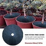 10 pezzi di copertura per alberi in tessuto non tessuto, barriera per piante infestanti in vaso, panno in feltro per la copertura di prevenzione delle piante Panno idratante traspirante