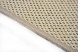 Flachgewebe Teppich Läufer Sahara Beige nach Maß - versandkostenfrei robuste Kunstfaser in Sisal-Optik schadstoffgeprüft pflegeleicht strapazierfähig dekorativ Wohnzimmer Schlafzimmer Büro Flur Diele, Größe Auswählen:100 x 200 cm