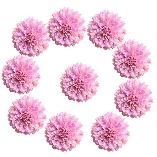 stliche Seide Chrysantheme Blütenköpfe Blumen-Köpfe Hochzeit Parteidekor - Rosa-Violett, 5.5cm ()