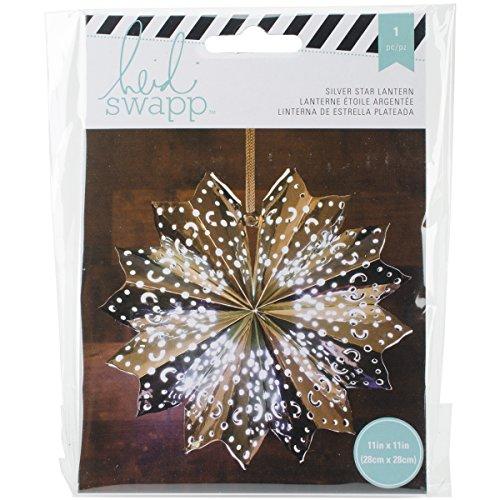 American Crafts Heidi Swapp 8 points Star Lanterne en papier aluminium argenté 28, acrylique, multicolore