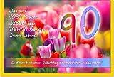 metalum Premium-Glückwunschkarte zum 90. Geburtstag mit hochwertiger Metallverzierung