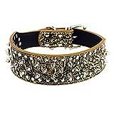 BaoJu Link Halsband Halskette, Hund Niet verstellbare Halsbänder Halskette (S, braun) (Color : Gold, Size : M)