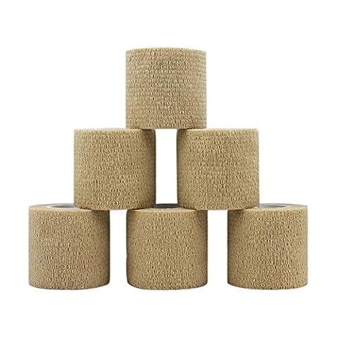 COMOmed Cohesive bandage Adhesive Bandage Tape 6 Rolls 5cm Skin