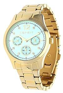 Esprit Damen-Armbanduhr Tracy Multi Analog Quarz Edelstahl beschichtet ES106702008