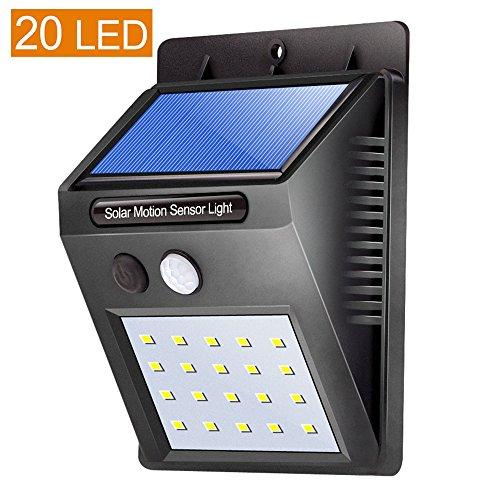 Solarleuchte , LIFU 20 Led Motion Sensor WandLicht Energieeinsparung IP64 Wasserdicht 3 Modi Sicherheit Lampe Für Garten, Hof, Haus, Auffahrt, Treppen, Außenwand