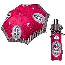 Santoro - Paraguas Plegable Manual Gorjuss - Rojo