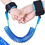 JINSEY Safety Child Anti Lost Wrist Link Harness Strap Rope Leash Walking Hand Belt (2.5m Blue)