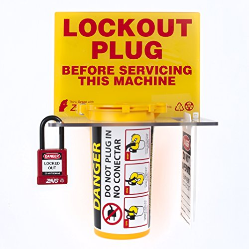 ZING 7117 RecycLockout Lockout Tagout Station, Plug Lockout by Zing Green Products