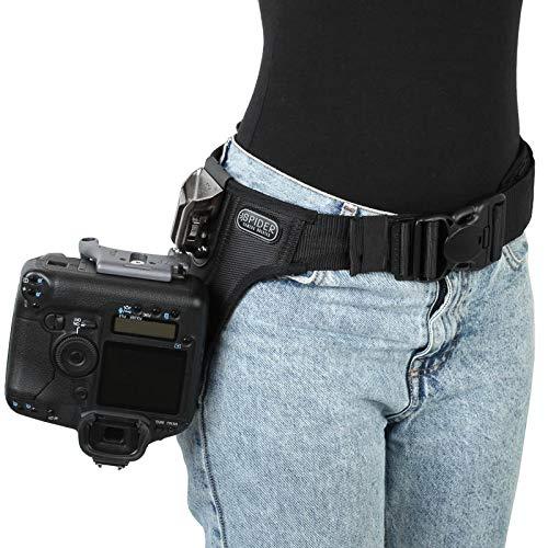 Spider Pro v2 Single Camera System Hüft-Tragesystem für eine professionelle DSLR-Kamera - für alle DSLR, auch Profimodelle mit großen Objektiven Kamera Holster