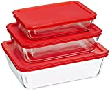 Best Pyrex Glass Jars - Pyrex Plastic Bakeware Set, Pack of 2 Review