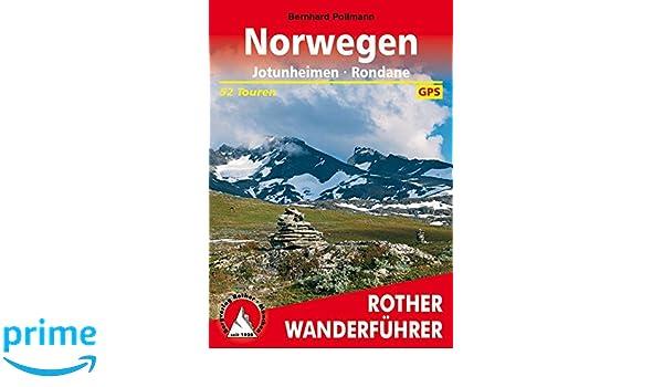 norwegen jotunheimen rondane 52 touren mit gpstracks rother wanderfhrer
