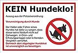 Melis Folienwerkstatt Schild - Kein Hundeklo - 30x20cm | Bohrlöcher | 3mm Aluverbund – S00187-008-B -20 VAR.