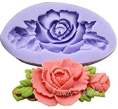 Silikonformen zum Basteln, Motiv: Blumen Rosa Allungata con