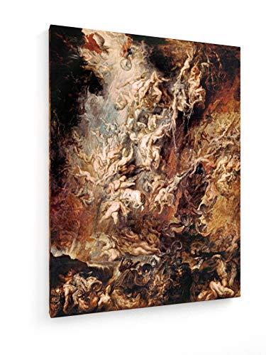 Peter Paul Rubens - Der Höllensturz der Verdammten - 75x100 cm - Leinwandbild auf Keilrahmen - Wand-Bild - Kunst, Gemälde, Foto, Bild auf Leinwand - Alte Meister/Museum