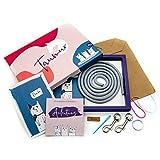 Taumur DIY-Set mit PPM-Seil für einfach Verstellbare Hundeleine - grau/pink