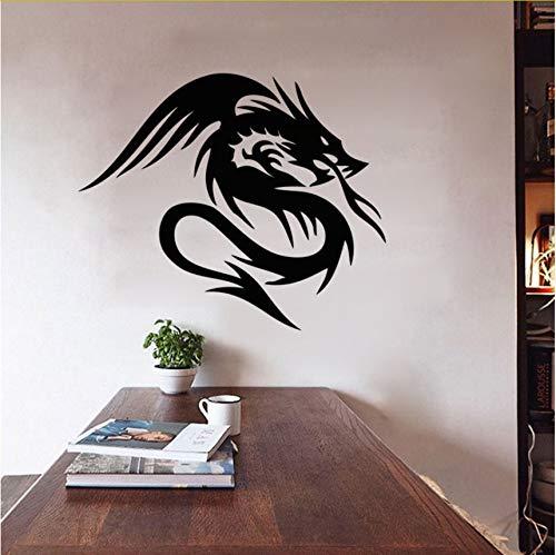Wuyyii Dragon Sticker Decal Wall Vinyl Decorativo Extraíble Decoración Del Hogar Pegatinas De Pared Animales Para Niños Habitación 37X44Cm