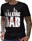HARIZ  Herren T-Shirt Papa Collection 36 Designs Wählbar Schwarz Urkunde #Papa01: The Walking Dad S