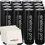 Kraftmax 16er-Pack Panasonic Eneloop PRO XX AA / Mignon Akkus - Neueste Generation - 2500 mAh Hochleistungs Akku Batterien in Kraftmax Akkubox V5, 16er Pack