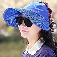 LBY Protección Solar del Verano del Sombrero Femenino Que Dobla El Sombrero De Ciclo Al Aire Libre De La Playa Sombreros de Sol