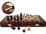 SENADOR DE LUJO 41 cm / 16 pulgadas de madera decorativa del juego de ajedrez, juego clásico hecho a mano