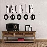 Lkfqjd La Música Minimalista Es La Vida Etiqueta De La Pared Cursos Creativos Vinilo Arte Pegatinas Ecualizador De Música Decoraciones Para El Hogar Accesorios 43 * 86 Cm