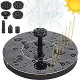 SunTop Pompe Solaire Fontaine à Eau Flottant pour Bain d'oiseau Etang 1.4 W Kit de Pompe à Eau Nouvelle Version Décoration de Jardin
