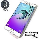 Aribest Galaxy A3 2016 Panzerglas Schutzfolie,3 Stück Panzerglasfolie für Samsung Galaxy A3 2016 Panzerglas Ultra-Klar 9H Härte,Kratzern und Blasefrei, Handy Displayschutzfolie für Samsung A3 2016